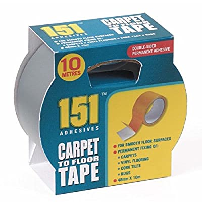 1 X Carpet to Floor Tape - Ten Metres long X 48mm Wide- Double Sided.For Permanent fixing of Carpets, Vinyl Flooring, Cork tiles, rugs and more! produced by 151 - quick delivery from UK.