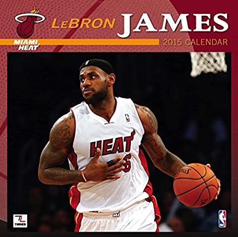 Turner Parfait Timing 2015 Miami Heat Lebron James Player Calendrier mural, 30,5 x 30,5 cm (8011565)