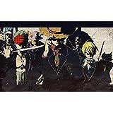 Mahalaxmi Art Anime Brook One Piece Chopper Franky Monkey D Luffy Roronoa Zoro Sanji Wall Poster Poster Print On 13X19 Inches
