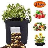 Sacs à Plantes Legumes Croissance Sac - 2 Pcs 46 Litres/12 Gallon Sac de...