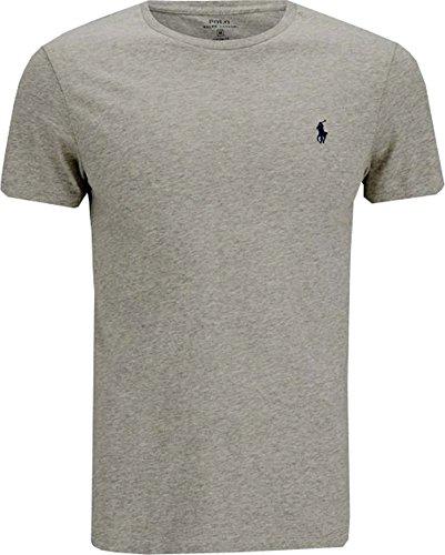 f706c70e4d Polo Ralph Lauren T-shirt uomo maniche corte Custom Fit Girocollo Colore  NEWGRAY HEATHER (M)