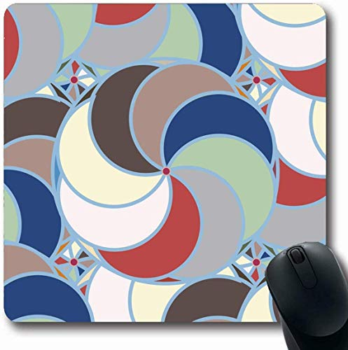 hdgfjhdfjdf Mouse Pad Seamless Pattern Sport Items White Soccer American Football Basketball Baseball Volleyball Tennis Rectangle Rubber Mousepad 11.81 X 9.84 Inch