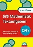 Schlaumeier: 535 Mathematik Textaufgaben 5.-8 - Klasse: Mit Übungen und Tests fit in Textaufgaben werden - Hans Bergmann, Karola Bergmann, Uwe Bergmann