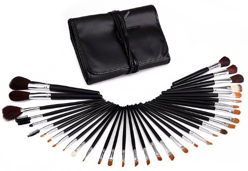 Glow Trousse 34 Pinceaux de maquillage fard ombre levre etc cosmetique