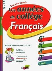Les années de collège Français 6e, 5e, 4e, 3e