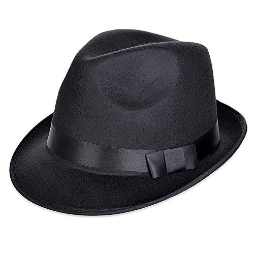 Vbiger Unisex Sombreros de Ala Cortos Sombrero de Fieltro de Lana British Sombrero  Retro 0c7efda5130