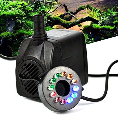 Preisvergleich Produktbild ZHENWOFC RGBY 12 LED Nachtlicht Tauchwasserpumpe für Aquarium KOI Fischteich Brunnen AC220V Innenlicht