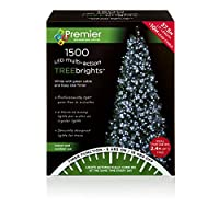 Premier Decorations - 1500 Multi Action TreeBrights LED Lights with Timer - White