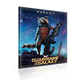 Marvel Guardians Galaxy Rocket Raccoon Leinwand Bilder (PPD2128O6FW) - Wallsticker Warehouse - Size O6 - 80cm x 60cm - 230g/m2 Canvas - 1 Piece