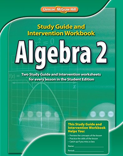 Algebra 2, Study Guide & Intervention Workbook (Merrill Algebra 2) por McGraw-Hill Education