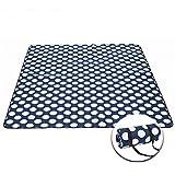 Etelux Picknickmatte 200 x 170 cm Klassisch mit Tragegurt und Tragetasche Picknickdecke Wasserabweisend Strand Freizeit Camping (Marine Fünfzackigen Kreis)