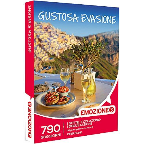 Emozione3 - cofanetto regalo - gustosa evasione - 790 gustosi soggiorni di 1 notte e 1 colazione e 1 degustazione in originali agriturismi e hotel