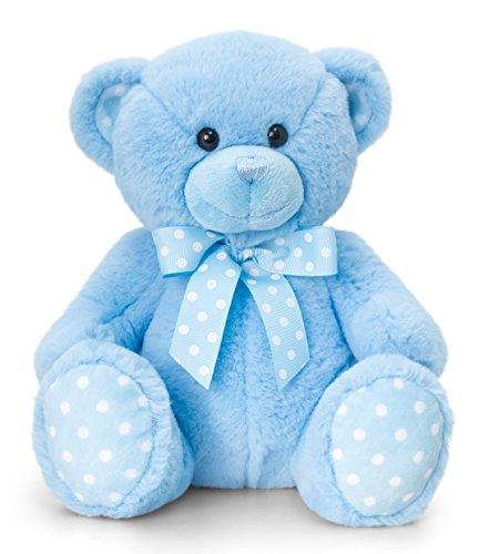 üschtier Bär in Blau, Kuscheltier Teddy sitzend 25 cm ()