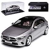 alles-meine GmbH Mercedes-Benz A-Klasse W177 Mojave Silber Grau Metallic Ab 2017 1/43 Herpa Modell Auto mit individiuell