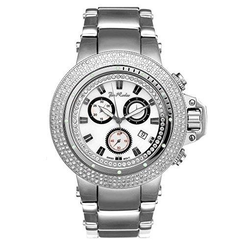 Joe Rodeo Diamond Men's Watch - RAZOR silver 4 ctw
