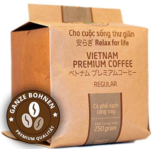 VietBeans – Hello5 Regular 250g – Hochwertige Hochland Kaffeebohnen – Vietnamesischer Kaffee...