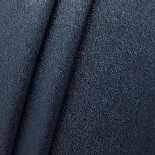 Nappaleder Imitat Stoff Meterware Dunkel-Blau Dunkel Blau Stoff