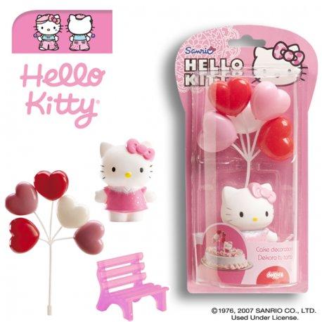 Kit de décoration Hello Kitty - Dek Déco Gâteau Anniversaire Pvc Résine - 509