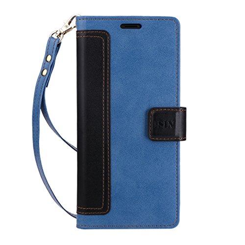 Funda Note 8,ISIN Teléfono Móvil Series-Funda Samsung® Galaxy™ Note 8 y Note 8 Duos 2017 6,3 Pulgadas Smartphone Snug Fit Funda Carcasa (Azul+Negro) width=