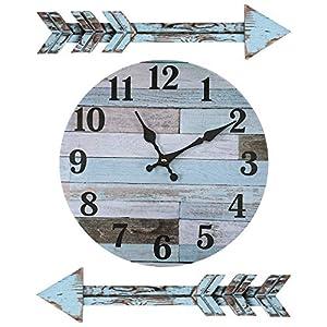 Decoración Rústica de Reloj de