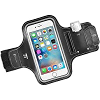 Brassard Sport Étanche Smartphone TaoTronics avec Rabats, Porte-clés & Range-cartes imperméable Bandeau pour le sport avec bandes réfléchissantes, compatible avec iPhone 8 7 6s 5C Galaxy S3 5 6 etc.