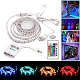 Simfonio USB Oder Batterie LED Streifen TV Hintergrundbeleuchtung 1m 30 LEDs IP65 Wasserdicht 5050 SMD Led Strip Full Kit mit Mini Controller