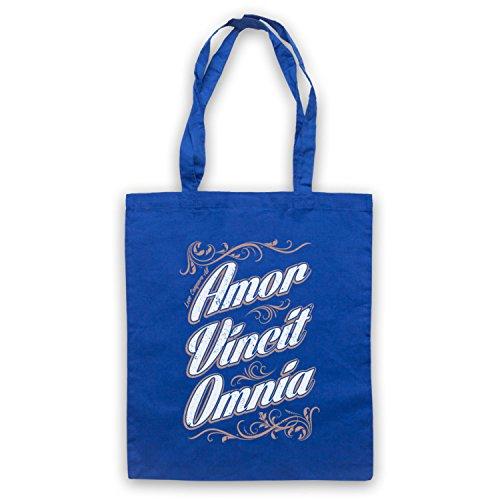 Amor Vincit Omnia Love Conquers All Umhangetaschen Blau
