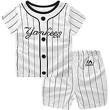 Babysbreath17 Pantalones muchacha de la historieta del bebé 2pcs Top corto de algodón manga corta camiseta