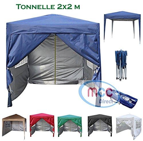 mcc direct Gazébo/Pavillon/Tente/Tonnelle/Auvent Pliable et résistant à l'Eau, 2x2m, avec Couche...