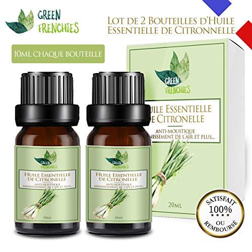 G.F. Huile Essentielle de Citronnelle, Citronnelle de Java Naturelle Anti-Moustiques,...