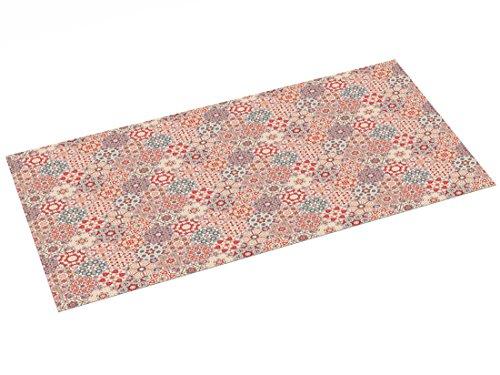 Alfombra Vinílica diseño Vintage, Rosa, 97 x 48 cm