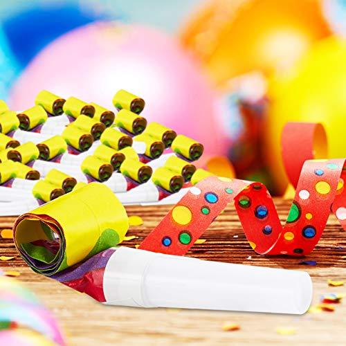 Relaxdays Partytröten 48er Pack, Luftrüssel Kinder, Lufttröte Kindergeburtstag, Party-Set Krachmacher, Partyrüssel, bunt, PP