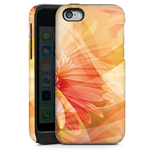 Apple iPhone 5s Housse Étui Protection Coque Fleurs Fleurs Fleurs Cas Tough brillant