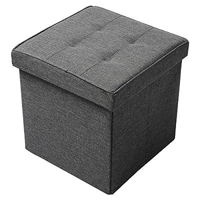 WOLTU SH06 Serie Sitzhocker Faltbarer Sitzbank Dicke Gepolsterte Sitzfläche aus Leinen von WOLTU - Gartenmöbel von Du und Dein Garten