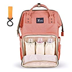 Ofun Nappy Changing Backpack, Multi-function Baby Changing Bags Rucksack, Large Capacity Baby Travel Bags For Mum Daddy, Diaper Bag Nappy Backpack With Stroller Strap