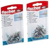 Fischer GKM SK - Viti in metallo per cartongesso, 2 confezioni blister