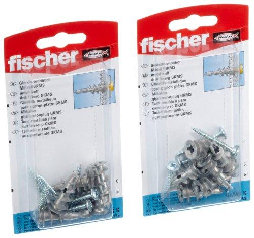 fischer-gkm-sk-cheville-metallique-pour-carton-platre-2-paquets-import-allemagne