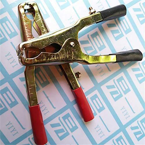 QXXZ 2 Stück Große Rot/Schwarze Autobatterie Alligator Krokodil Clips Kupferbeschichtete Reine Akkumulatorklemmen