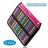 YOUSHARES 54 slot matita manica – legante progettato matita pagina compatibile con 216 schede di matita per acquerello matita, penna gel e cosmetici pennello (rosso)