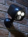 LTTL Drahtloser Batteriebetriebener Ultra Heller 300 lm LED Spot mit Bewegungssensor, Schwarz