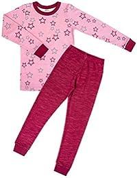 joha–Niña Infantil Ropa Interior transpirable Función 2piezas lana de merino y bambú hipoalérgica Star Kids en Rose