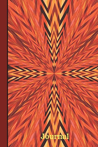Journal: Burst Of Color Orange Red, Wide Ruled Journal Paper, Daily Writing Notebook Paper, 100 Lined Pages (6