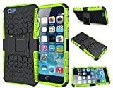 FinestBazaar Shockproof Builder Defender Tough Hard Heavy Duty Armour Back Case Cover Pouch With Stand [ For Apple iPhone 5 / 5s / Se in Green ] + Free Screen Protector