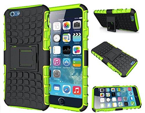 Finest Bazaar Stoßfeste Schutzhülle mit Ständer - für Apple iPhone 5 / 5S / SE - Grün