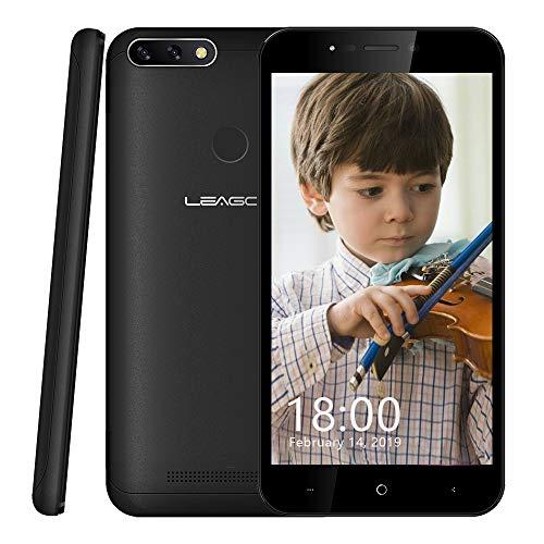 """Leagoo Kiicaa Power 2 Pro Smartphone Libres, teléfono móvil 4G con 4000mAh batería(Pantalla HD IPS de 5.2"""",Cámara Dual de 8MP,RAM 2GB y ROM 16GB,Quad Core 1.28GHz y Android 8.1,Red de 4G) (Negro)"""