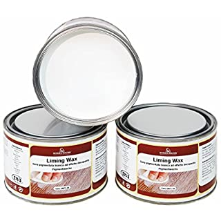Borma Liming Wax Terpentin freie Kalkwachs Shabby Chic White Wash Weisser Wachs (500)