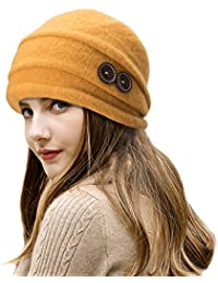 cbc230b0a4d Lawliet Ladies Vintage Elegant Wool Cloche Hat Winter Warm Berets