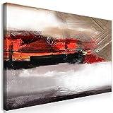 decomonkey Bilder Abstrakt 120x60 cm 1 Teilig Leinwandbilder Bild auf Leinwand Wandbild Kunstdruck Wanddeko Wand Wohnzimmer Wanddekoration Deko Kunst Modern
