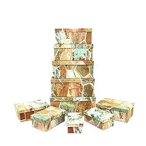 Gifts 4 All Occasions Limited SHATCHI-1295 Shatchi - Cajas de almacenamiento con tapa para decoración del hogar, regalos de Navidad, suministros para fiestas 11674, multicolor
