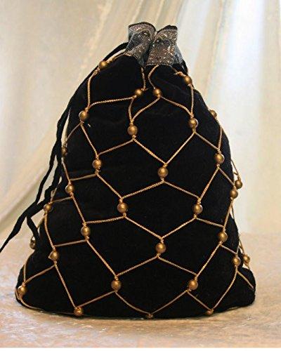 Dark Dreams Gothic Mittelalter LARP Perlen Perlentasche Tasche Beutel Boleyn , Farbe:schwarz - 3